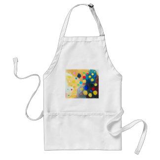 >Sprites coloridos (pintura ingenua abstracta) Delantal
