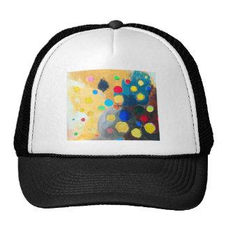 >Sprites coloridos (pintura ingenua abstracta) Gorros Bordados