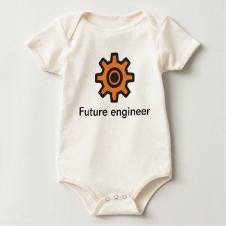 Sprocket - future engineer inside baby bodysuit