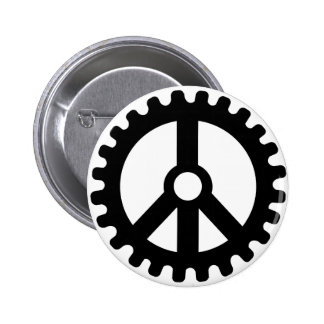 Sprocket of Peace-Button 2 Inch Round Button