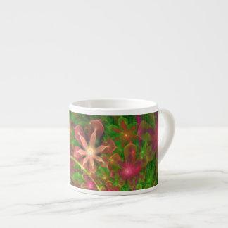 Sproingy Spring Flowers Fractal Art 6 Oz Ceramic Espresso Cup