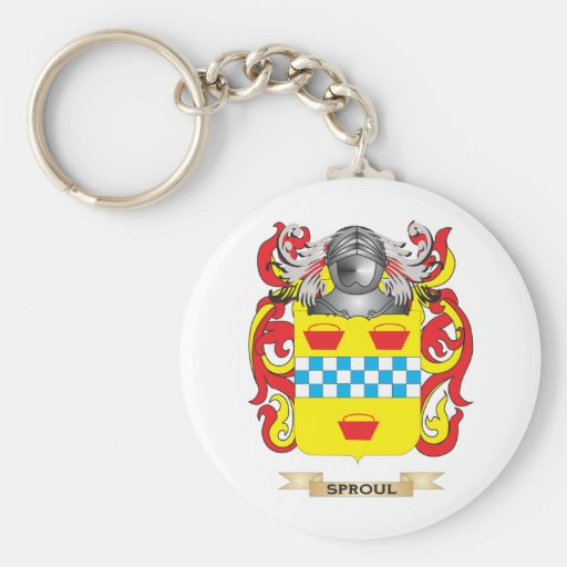 Sproul Coat of Arms (Family Crest) Basic Round Button Keychain