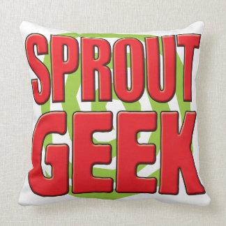 Sprout Geek Throw Pillow