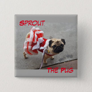 Sprout in a Red Dress Button