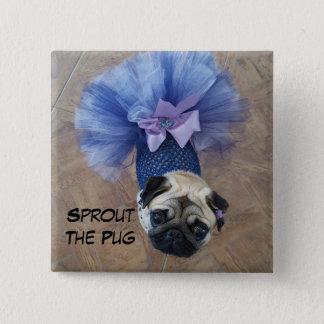 Sprout in a Tutu Pinback Button