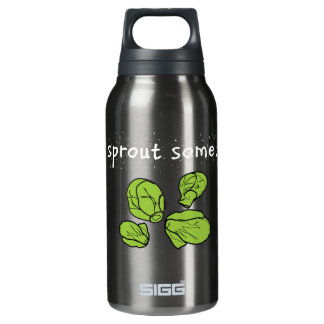 sprout some. (Brussels sprouts) Insulated Water Bottle