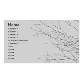 Sprouting Branches/Embossed-Like Image Business Card