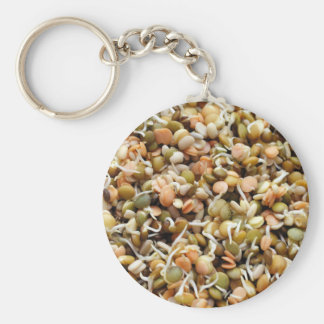 Sprouting Lentils Mix Basic Round Button Keychain