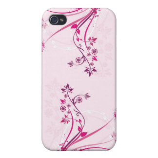 Sprouting Pink Flowers Case For iPhone 4