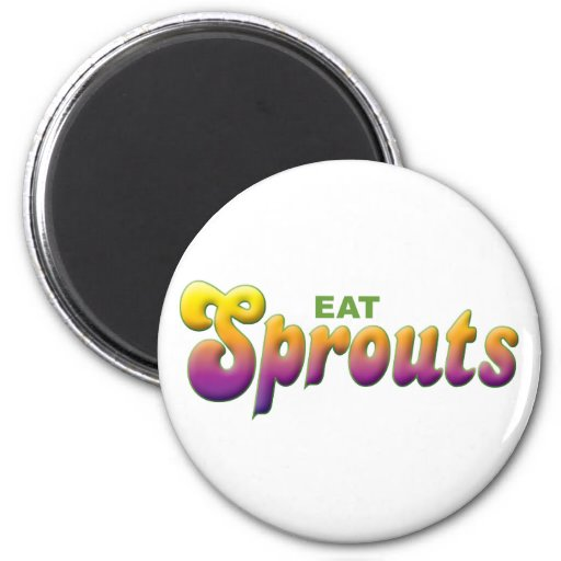Sprouts Eat Refrigerator Magnets