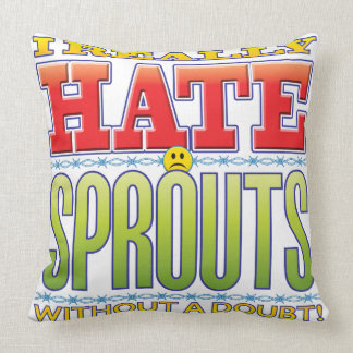 Sprouts Hate Face Pillow