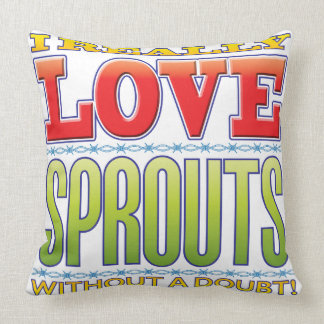 Sprouts Love Throw Pillow