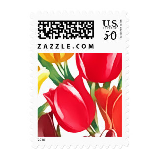 Sprting Tulips Easter Postage Stamps