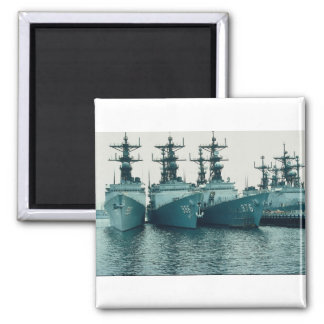 Spruance class destroyers, NAV STA, San Diego, Cal 2 Inch Square Magnet