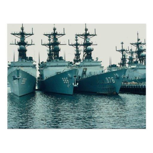 Spruance class destroyers, NAV STA, San Diego, Cal Postcards