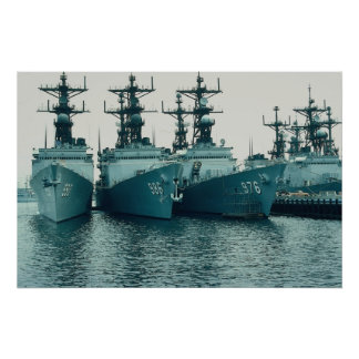 Spruance class destroyers, NAV STA, San Diego, Cal Poster