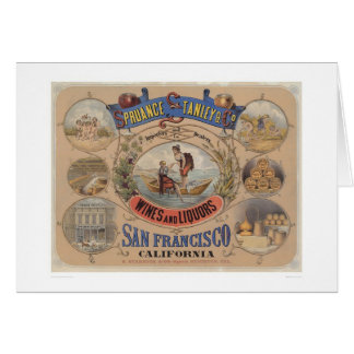 Spruance Stanley & Co., Wines & Liquors, SF (1305) Card