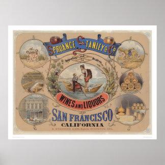 Spruance Stanley y Co vinos y licores SF 1305 Poster