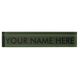 SPRUCE GREEN (solid color) ~ Desk Name Plate