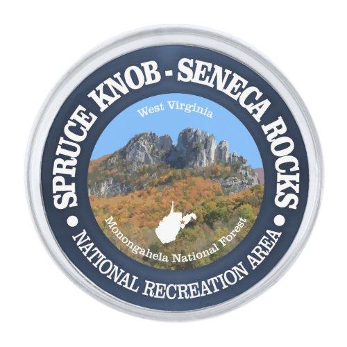Spruce Knob - Seneca Rocks NRA Silver Finish Lapel Pin
