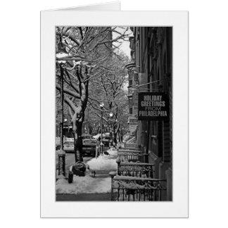 Spruce St. Philadelphia GREETING CARD
