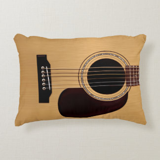Spruce Top Acoustic Guitar Accent Pillow