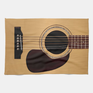 Spruce Top Acoustic Guitar Hand Towel
