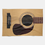 Spruce Top Acoustic Guitar Kitchen Towels