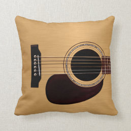 Spruce Top Acoustic Guitar Throw Pillow