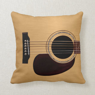 Spruce Top Acoustic Guitar Throw Pillow at Zazzle