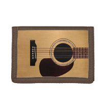 Spruce Top Acoustic Guitar Tri-fold Wallet