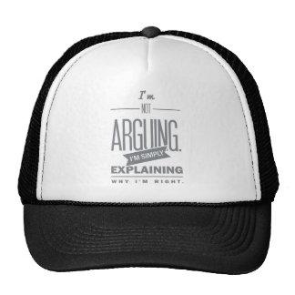 Spruch_Arguing_mono.png Trucker Hat