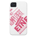 Spruch_Kompliziert_mono.png iPhone 4 Cases
