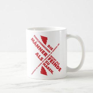 Spruch_Männer_Feinde_mono.png Coffee Mug
