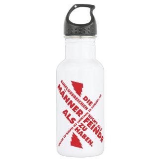 Spruch_Männer_Feinde_mono.png Water Bottle