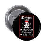 SPSP~Pirates-Only-Posters Pinback Button
