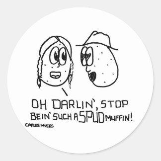 Spud Muffin Classic Round Sticker
