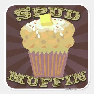 Spud Muffin Square Sticker