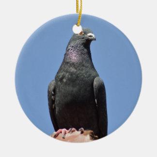 Spud the pigeon ceramic ornament
