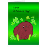 Spudman and Shamrock Paddy St Patrick's Day Greeting Cards