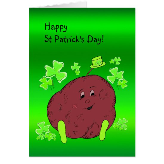 Spudman and Shamrock Paddy St Patrick's Day Card