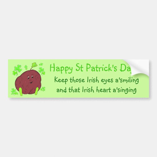 Spudman Paddy St Patrick's Day bumper sticker