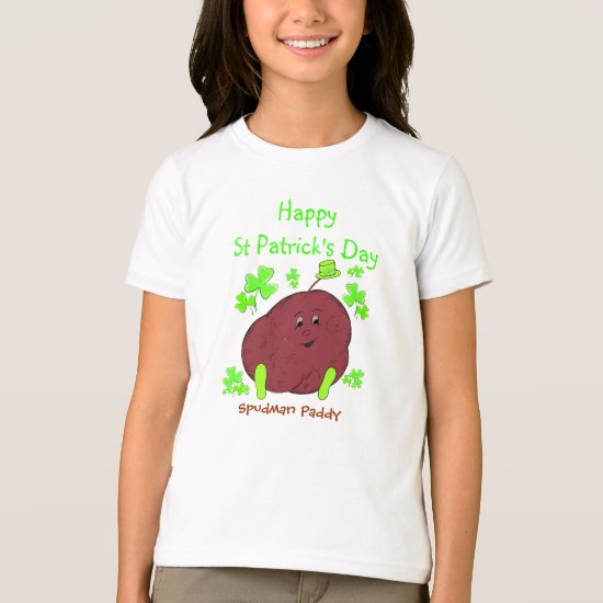 Spudman Paddy St Patrick's Day girls t-shirt