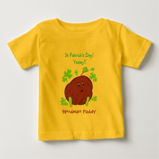 Spudman Paddy St Patrick's Day infant t-shirt