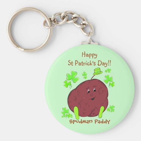 Spudman Paddy St Patrick's Day keychain