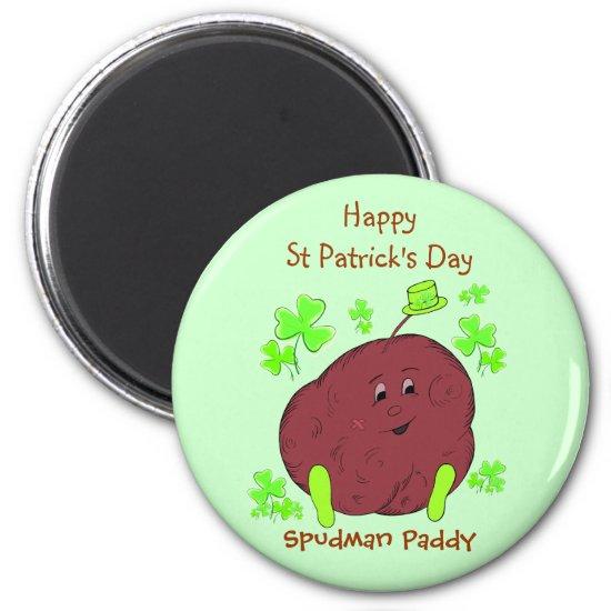 Spudman Paddy St Patrick's Day Magnet