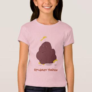 Spudman Yeehaw! girls babydoll t-shirt