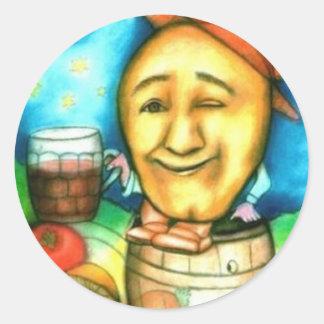 Spud's a Boozer Classic Round Sticker