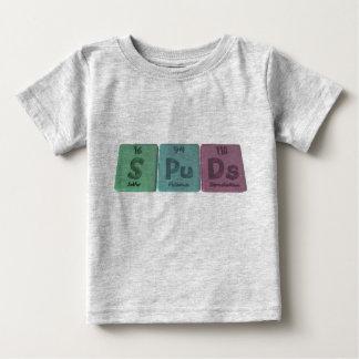 Spuds-S-Pu-Ds-Sulfur-Plutonium-Darmstadtium.png Baby T-Shirt
