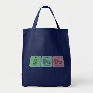 Spuds-S-Pu-Ds-Sulfur-Plutonium-Darmstadtium.png Tote Bag